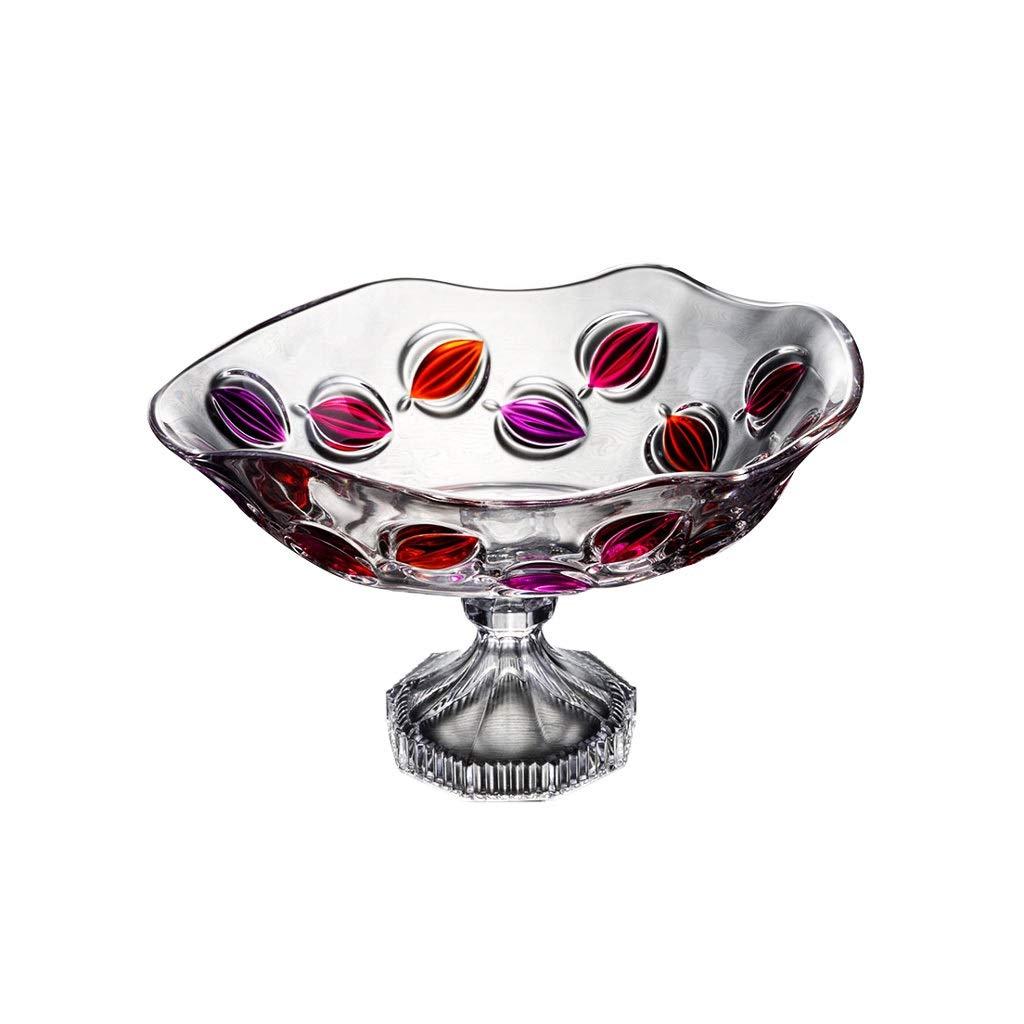 フルーツトレイクリエイティブクリスタルガラスフルーツボウルドライフルーツプレート2つのスタイル (サイズ さいず : B) B  B07PNVHRM2