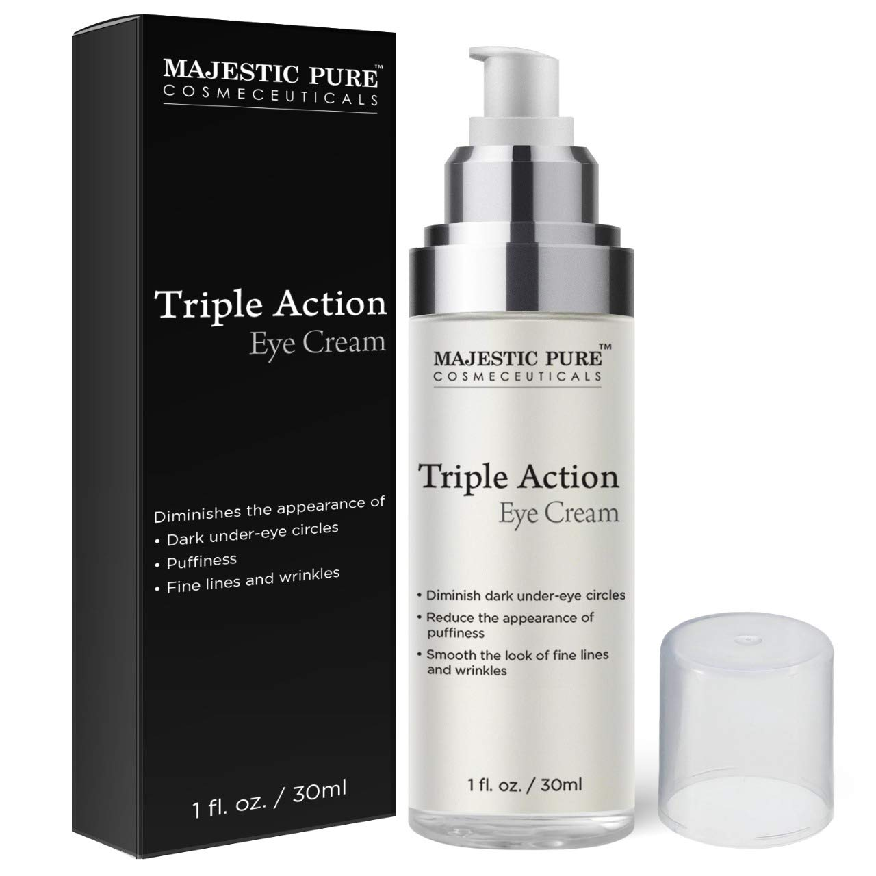 Amazon Com Triple Action Eye Cream By Majestic Pure With