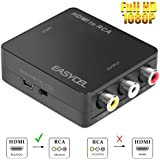 Easycel HDMI to AV Composite RCA Converter for Roku Streaming Media Player Amazon Media Player Apple
