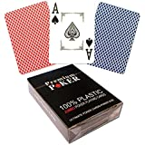 New 2x Premium High End 100% Plastic Poker Cards Large Index 2Corners Sign Casino Quality