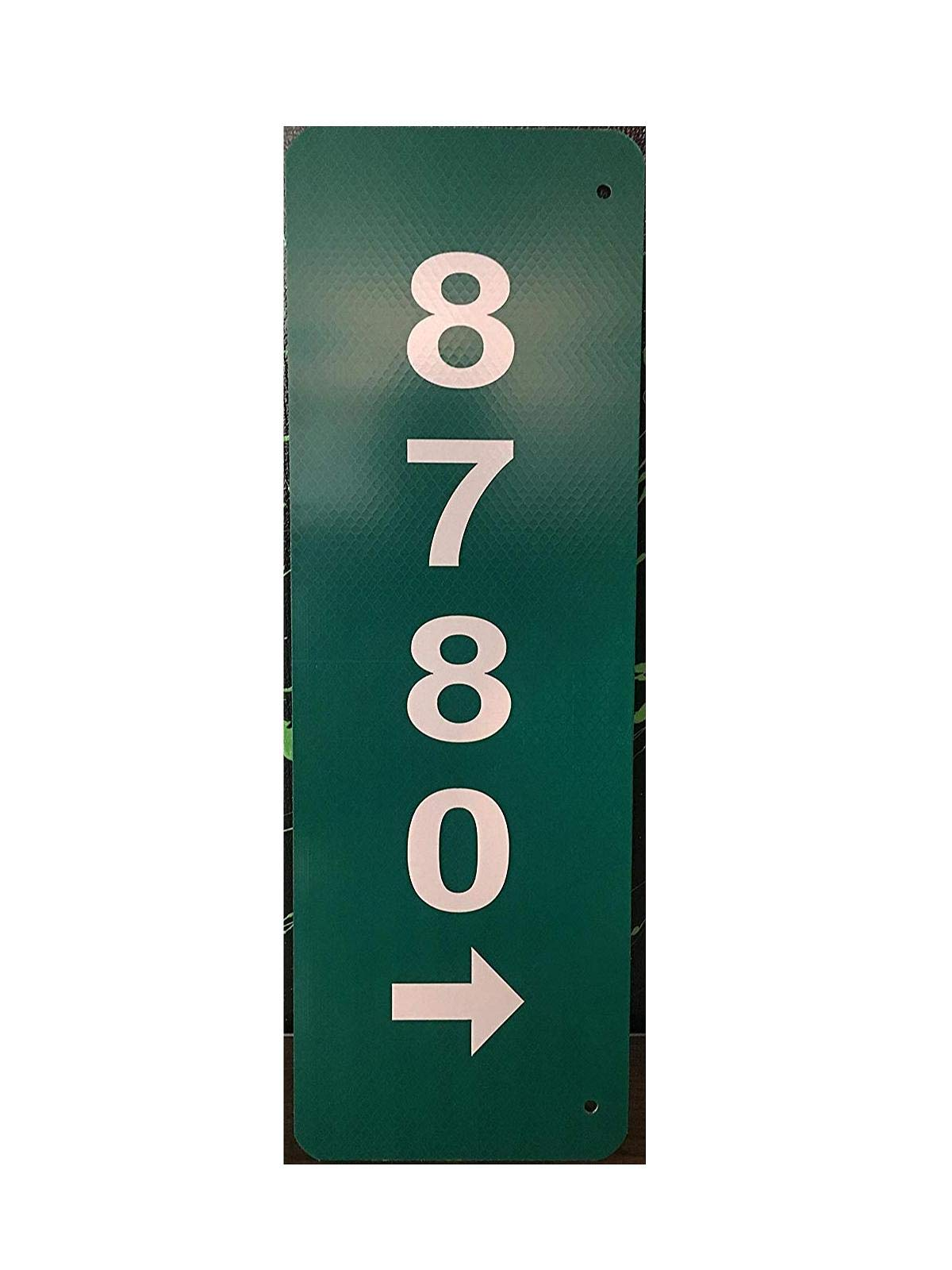 Custom Reflective Green 911 Address Aluminum Sign with Arrow on Both Sides