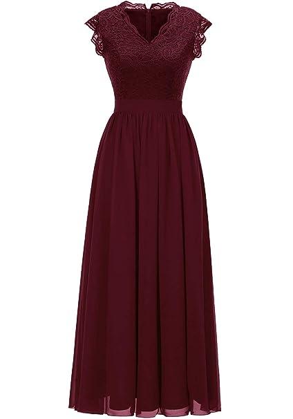Amazon.com: Dressystar vestido de dama de honor de encaje ...