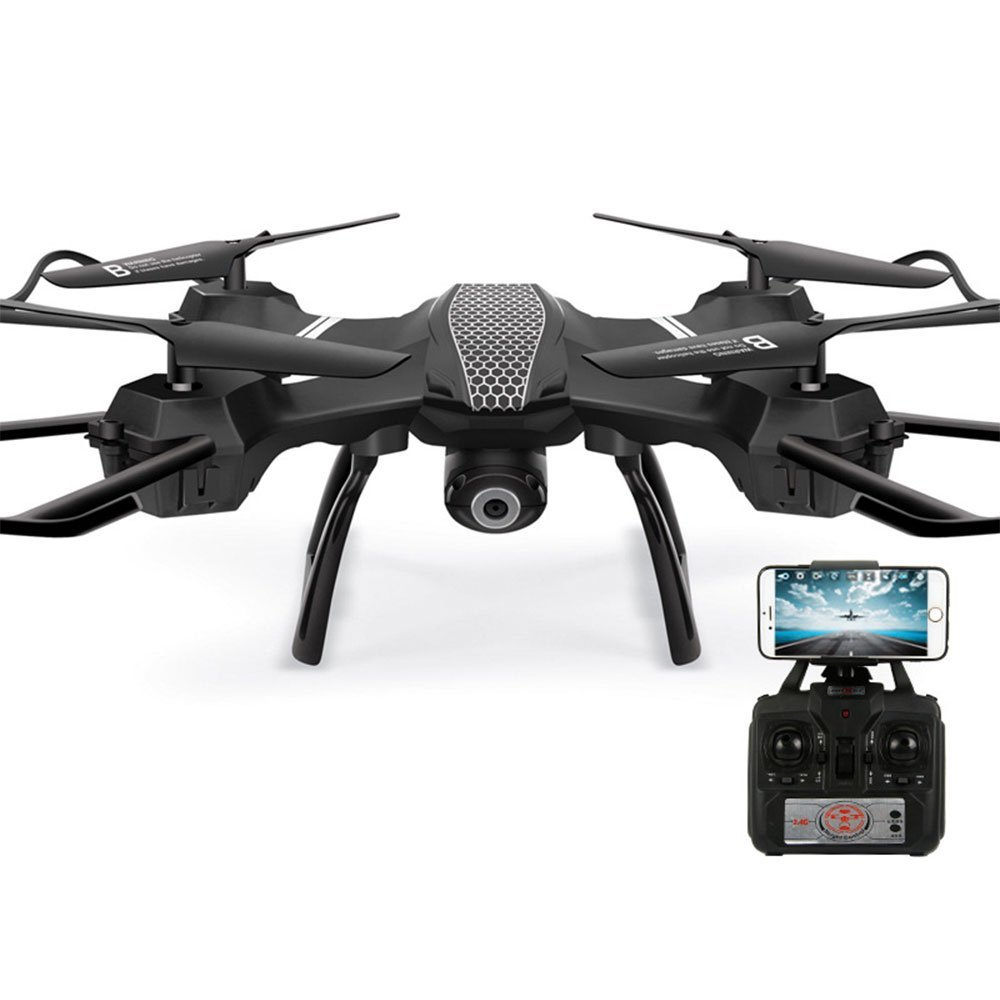 Remote Drone with Camera Live Video Quadcopter Suitable for Beginners and Children Remote Control Helicopter with LED Light Headless Mode and Intelligent Suspension Chip 3D Flip Modular Battery
