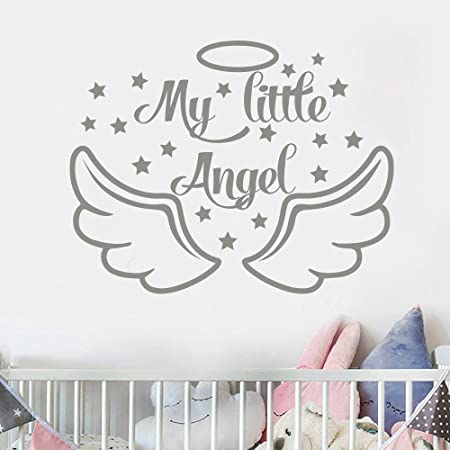 juntop My Little Angel Tatuajes de Pared Baby Shower Decoración ...