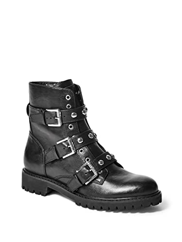 29b038e92 Amazon.com | G by GUESS Prez Motorcycle Bootie Women's Black | Boots