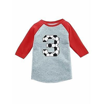 Tstars 3rd Birthday Gift 3 Year Old Soccer Fan 4 Sleeve Baseball Jersey Toddler Shirt