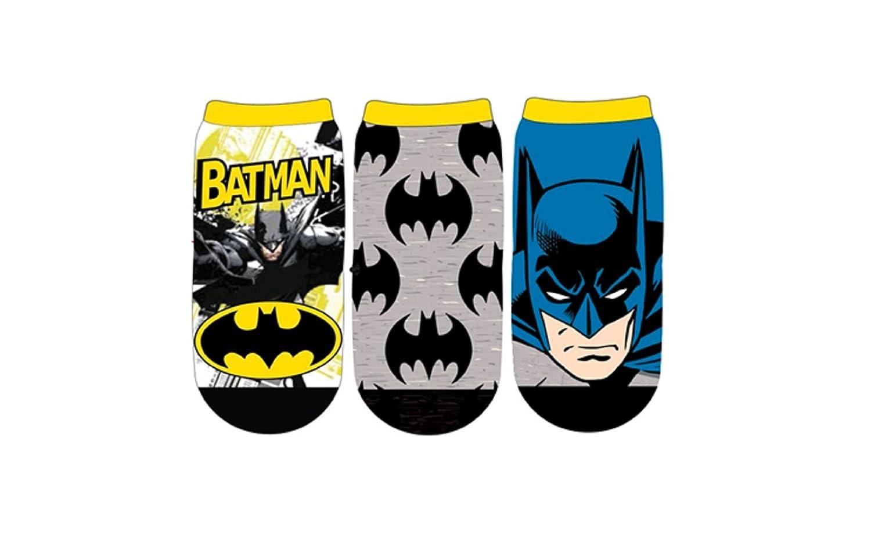 DC Comics Boys Batman Face 3-Pack Ankle Socks SPORTICUS