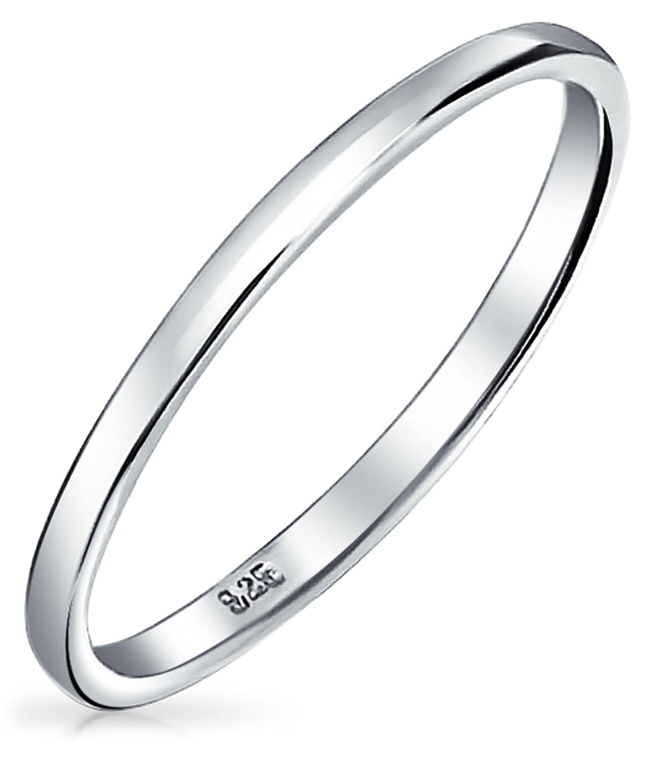 .925 Sterling Silver Wedding Band Thumb Toe Ring 2mm Bling Jewelry SI-RP140502