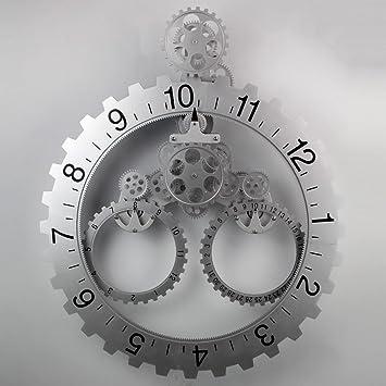 YGL Relojes de Engranajes Relojes Relojes Relojes Relojes Relojes,Plata: Amazon.es: Hogar