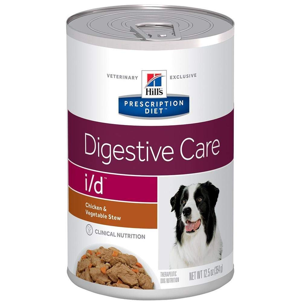 HILL'S PRESCRIPTION DIET i/d Digestive Care Chicken & Vegetable Stew Canned Dog Food, 12.5 oz, 12-Pack Wet Food by HILL'S PRESCRIPTION DIET