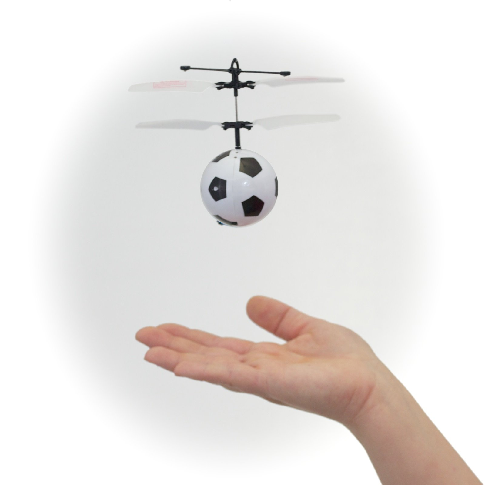 Mukikim Mini Flyer - Soccer/Watch it hover, float and fly like magic. Bring a smile to your face as you have fun flying. (Newest version featuring USB charging!)