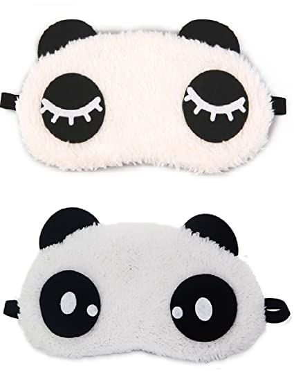 31e4cb34aec Buy Jenna Eyelashes Dot Panda Sleeping Eye Mask White Free Size (Pack of 2)  Online at Low Prices in India - Amazon.in