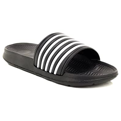 295fcae317a5 Dr Keller Mens Sliders Shoes Summer Holiday Beach Pool Shower Sandals Flip  Flops Soft Comfortable Casual Walking Flat Open Toe Lightweight Slippers  Mules ...