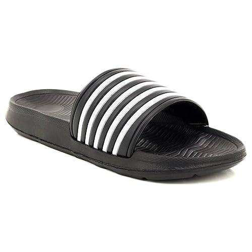 d4571ef813508 Dr Keller Mens Sliders Shoes Summer Holiday Beach Pool Shower Sandals Flip  Flops Soft Comfortable Casual Walking Flat Open Toe Lightweight Slippers  Mules ...