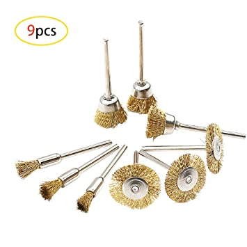 Professional Brass Wire Brush Jewellery Cleaning Grinding Buffing Polisher Tools