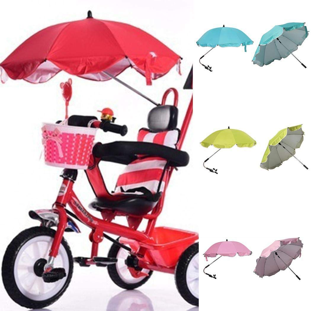 Baby Stroller Umbrella, Foldable Baby Carriages Wheelchair Pushchair Cover for Sun Rain Protection UV Rays Outdoor Umbrella by KOKOBUY (Image #8)