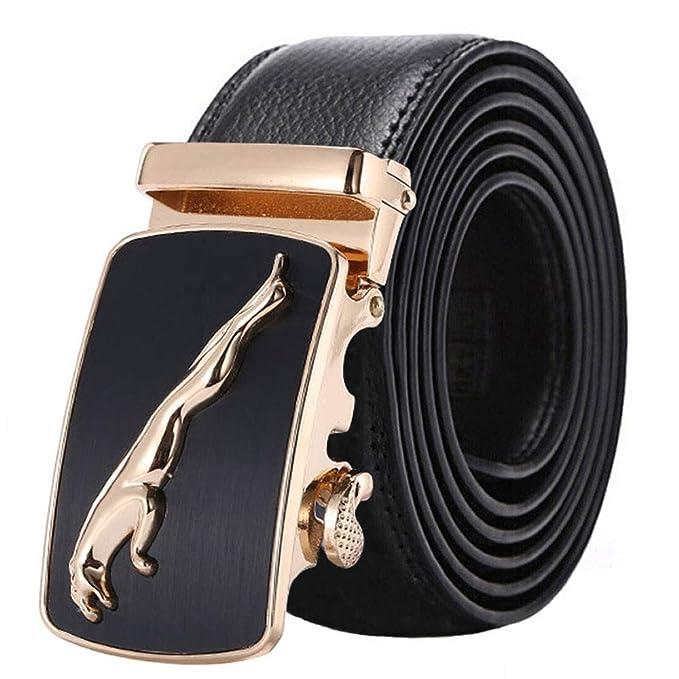 Mens Blets Leather Genuine Automatic Buckle Car Buckle Black Belt For Men