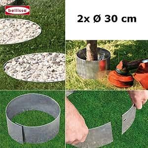 Juego de 2Bellissa–Bordes circular para Bancal, Cercado, algodón Protección, mähschutz para árboles del Grava König