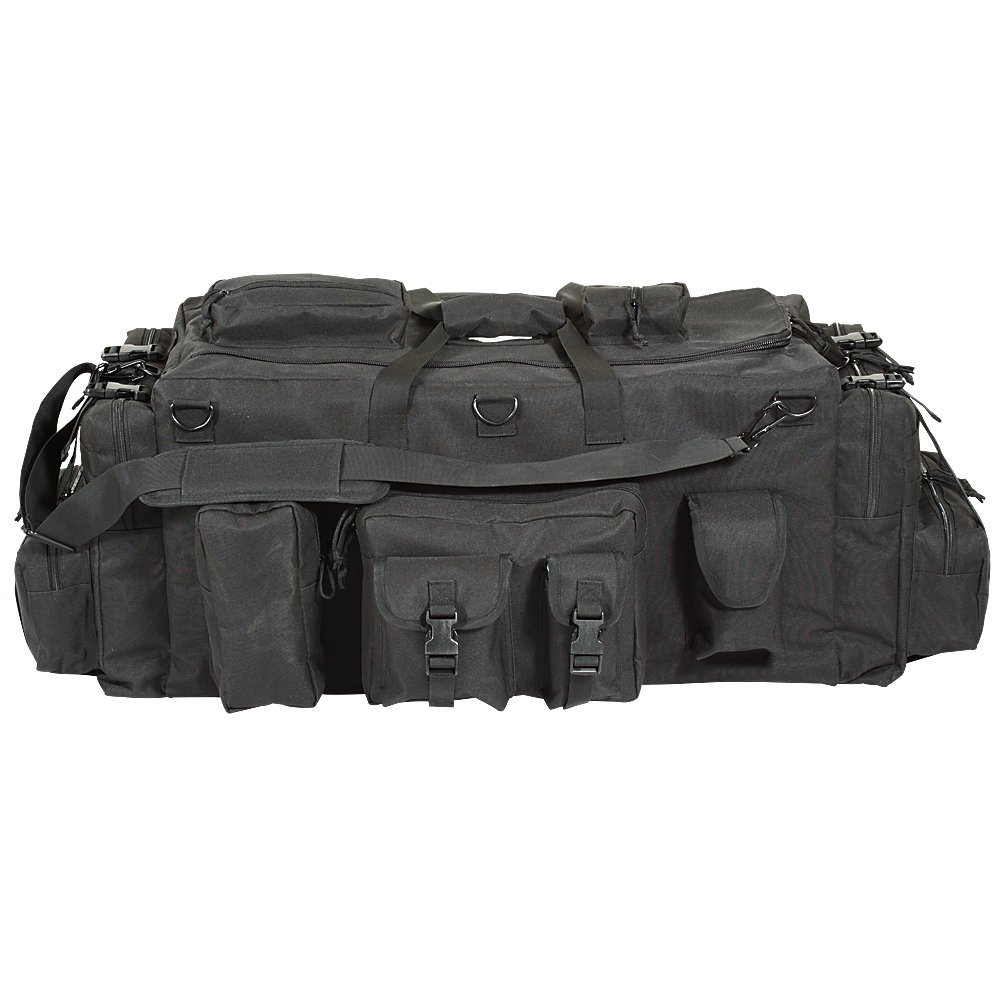 VooDoo Tactical Men's Mojo Load-Out Bag with Backpack Straps, Black by VooDoo Tactical