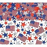 Patriotic Party Confetti Decoration Mega Value Pack Mix, Foil, 2 1/2 oz