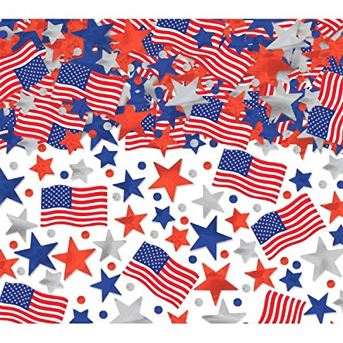 - Patriotic Party Confetti, 2.5 oz.