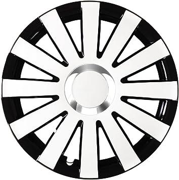 Eight Tec Handelsagentur Farbe Und Größe Wählbar 15 Zoll Radkappen Onyx Schwarz Weiß Passend Für Fast Alle Fahrzeugtypen Universell Vom Radkappen König Auto