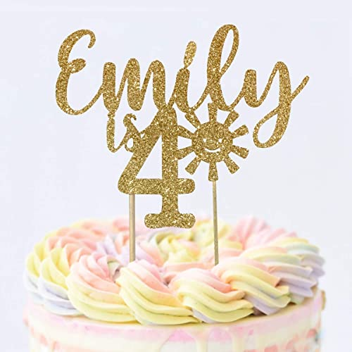 Personalized Name /& Age Sunshine Cake Topper ANY NAME Sunshine Birthday Party One Cake Topper Custom 1st Birthday Cake Topper Sunshine One Birthday Personalized One Cake Topper