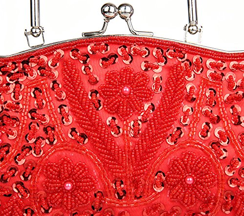 Beaded A Prom Handbag Women's Elegant Clutch Hand Party Sequin Vintage Embroidered nUOqYHSv