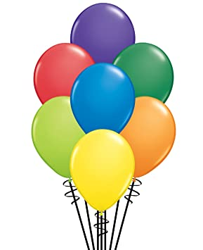 Qualatex 100 Assortment Of Round 5 Pack BalloonsCarnival X8On0wkNPZ