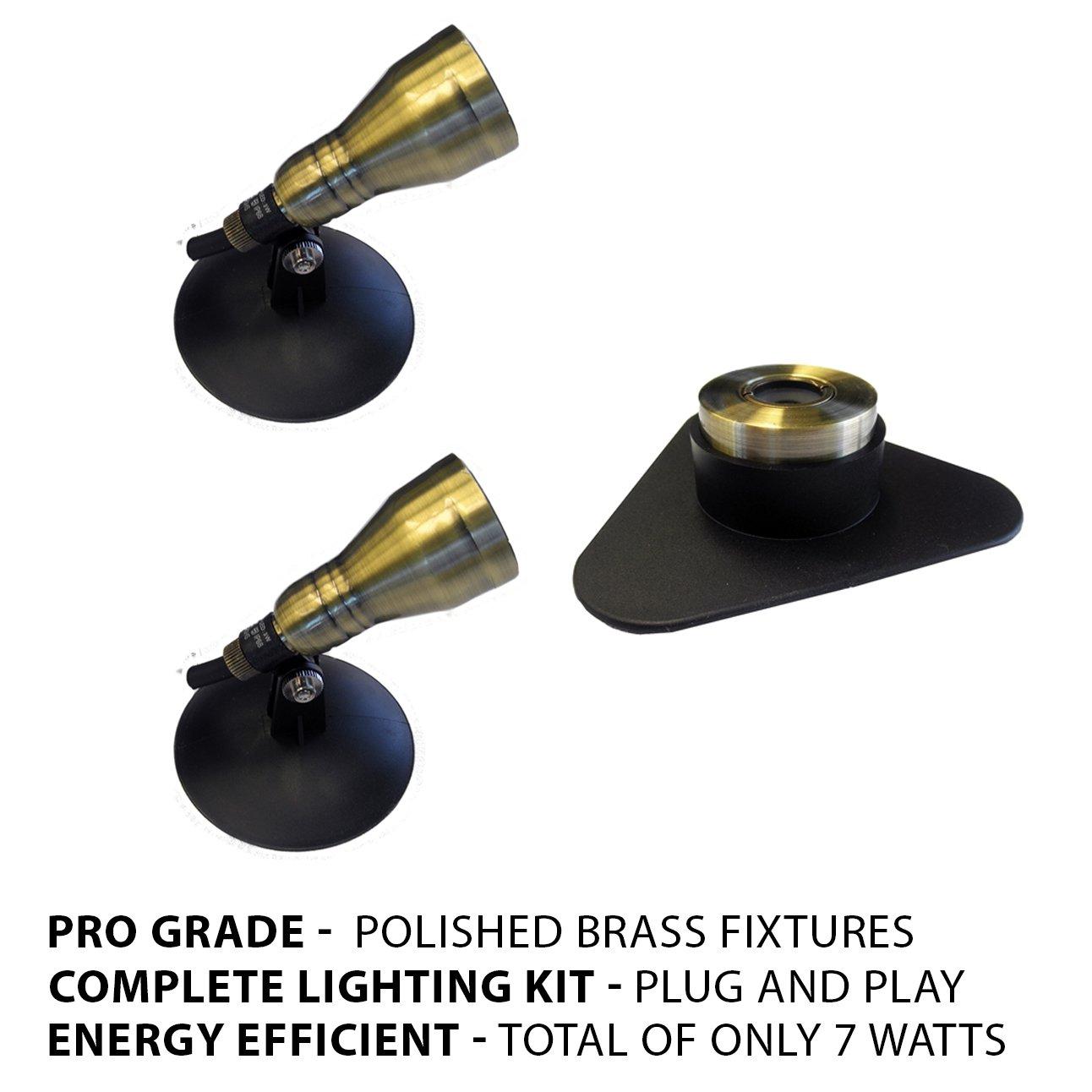 Patriot Brass LED Waterproof Pond and Landscape Lighting 7 Watt Light Kit P-A3
