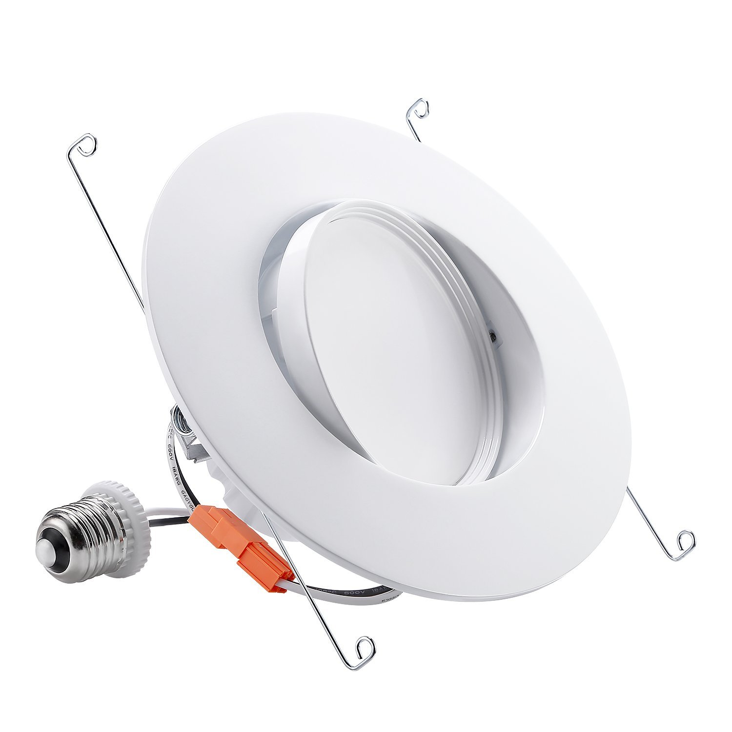 TORCHSTAR 5/6-Inch Retrofit LED Gimbal Downlight, 900lm, 13W (100W Equiv.), UL & ENERGY STAR Certified Dimmable Recessed Light, CRI90+, 5000K Daylight, 5 YEARS WARRANTY
