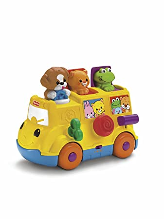 Fisher-Price Musical Pop Up Bus: Amazon.co.uk: Toys & Games