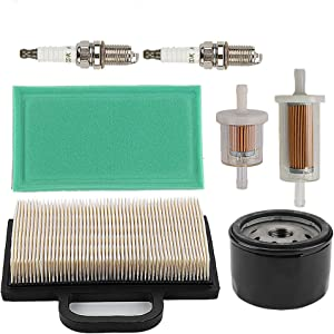 Mckin 499486 499486S 698754 Air Filter + 691035 845125 Fuel Filter + 492932S 492932 696854 Oil Filter fits Briggs & Stratton 401577 405577 406777 407777 40G777 40H777 445577 445677 Engines Parts