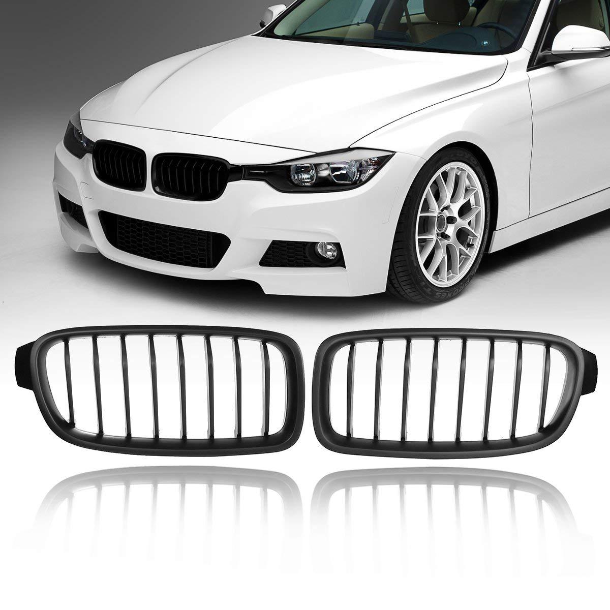 accessori per auto 1 paio di griglie per paraurti anteriore nero opaco per BMW F30 F31 F35 Serie 3 2012-2017