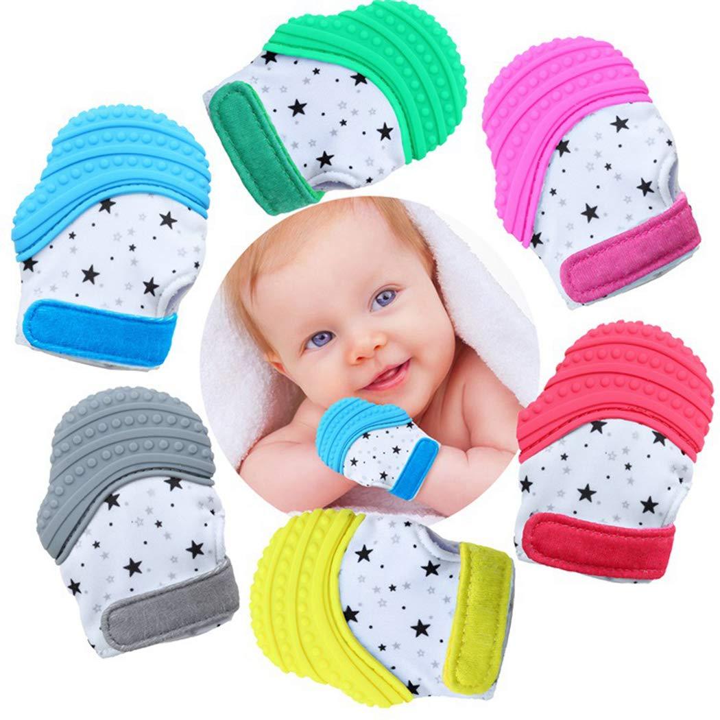 Zoylink Baby Zahnen Baby Bei/ßring Lebensmittelqualit/ät Silikon Baby Kinderkrankheiten Spielzeug