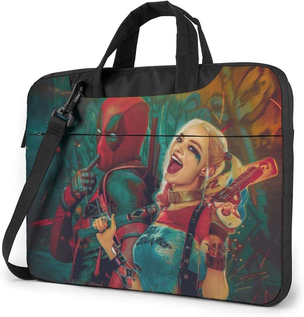 Laptop Sleeve Bag Dead_Pool Harley Quinn Laptop Sleeve Case Cover, 14 inchTablet Briefcase, Notebook Sleeve Case