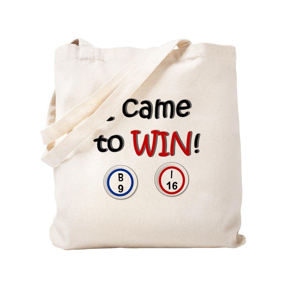 CafePress - Came To Win! Bingo - Natural Canvas Tote Bag, Cloth Shopping Bag by CafePress