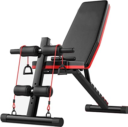 Amazon Com Tengma Sit Up Bench Weight Bench Adjustable Workout Benches For Home Olympic Weight Bench Strength Training Bench Incline Decline Abs Bench Press Flat Bench Fly Weight Press Fitness Rope Sports