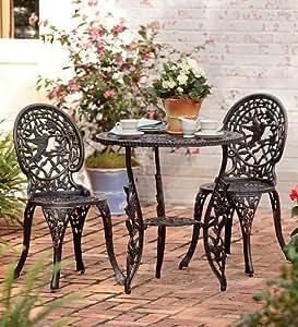 Amazon Com Hummingbird Aluminum Table And Chairs Bistro