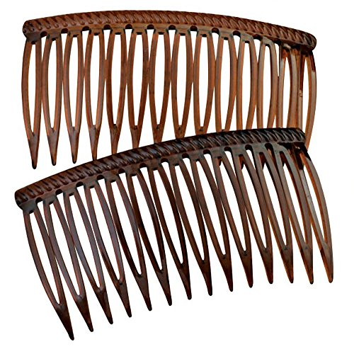 (Good Hair Days Grip Tuth Combs 40405 Set of 2, Tortoise Shell Color 2 3/4