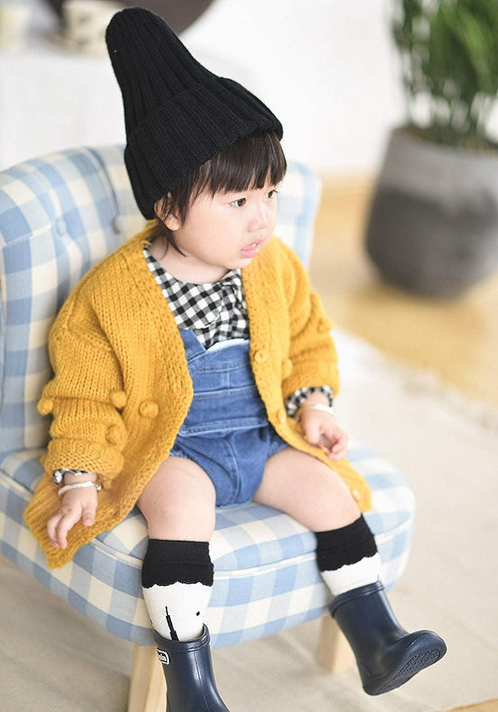 DEMU Kleinkinder Baby M/ädchen Strickjacke Strickpullover Langram Cardigan Sweatshirt Pullover