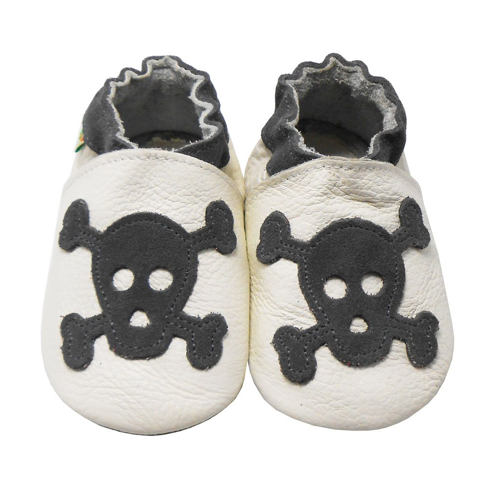 Sayoyo Baby Skull Soft Sole Leather Infant and Toddler Shoes