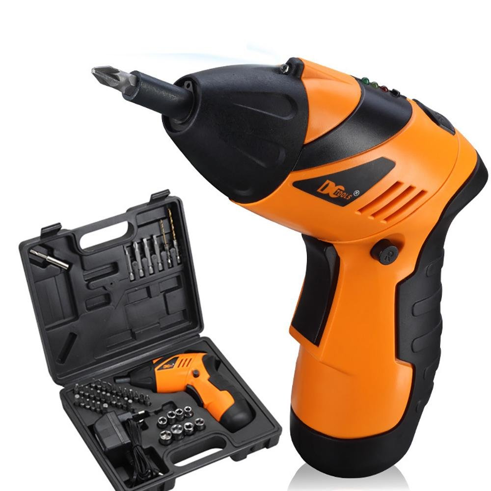 Cordless Rechargeable Screwdriver, niceEshop(TM) 4.8V 45 in 1 Non-slip Foldable Electric Drill Cordless Screwdriver With LED and USB Charging Cable
