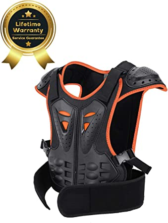 SULAITE Youth Child Kid Reflective Armor Body Chest Spine Protection Gear