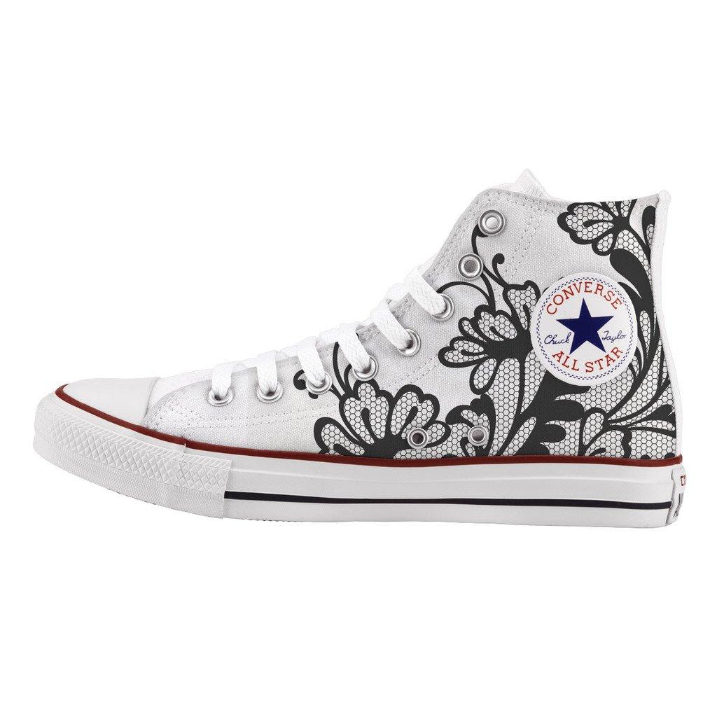 Converse All Star Personnalisé et imprimés - Chaussures à la Main - - Elegant