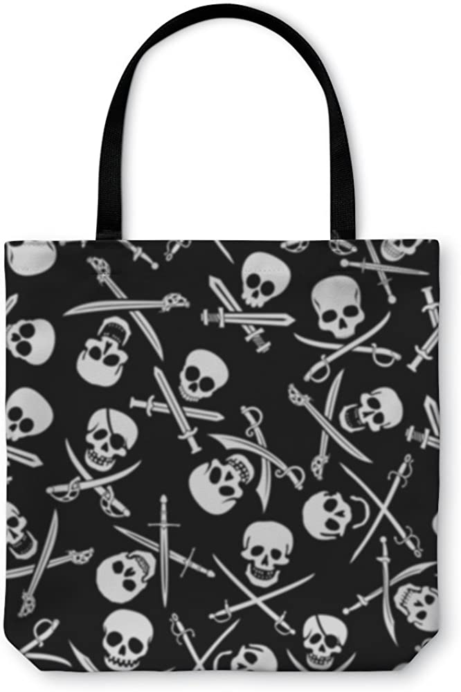 22721GN Sugar Skull Gear New Shoulder Tote Hand Bag