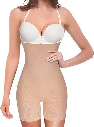 Nebility Women Waist Trainer Shapewear Tummy Control Body Shaper Shorts Hi-Waist Butt Lifter Thigh Slimmer