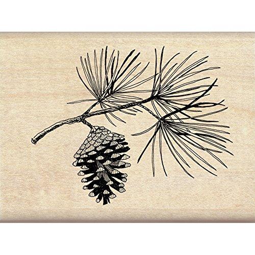 "Inkadinkado Pine Bough Christmas Mounted Rubber Stamp, 3"" by 2.25"""