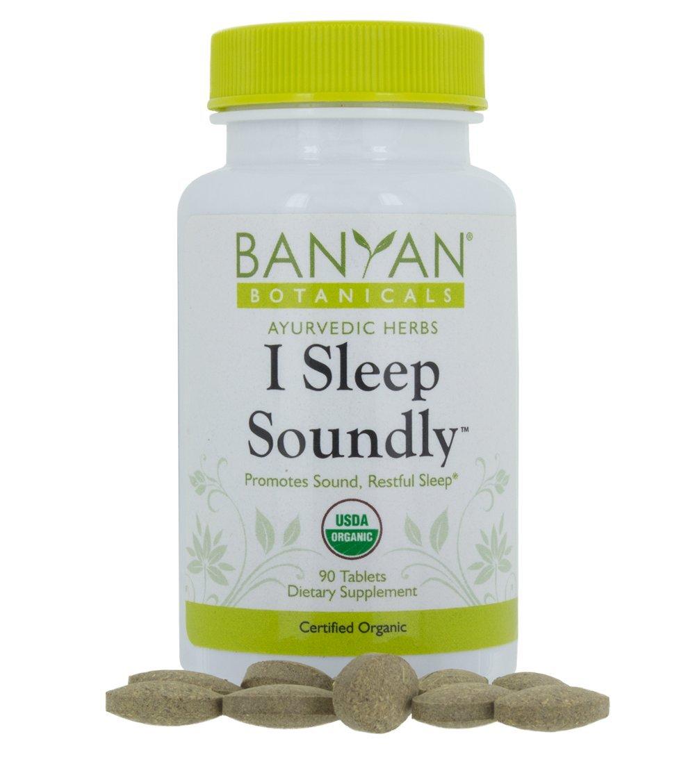 Banyan Botanicals I Sleep Soundly - USDA Organic, 90 Tablets - Non Habit Forming Ayurvedic Herbal Sleep Aid* by Banyan Botanicals