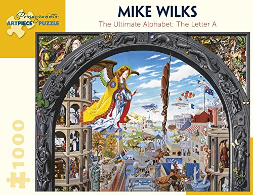 Mike Wilks: The Ulimate Alphabet: The Letter A 1000 Piece Puzzle Jigsaw Puzzle 27 x 20in
